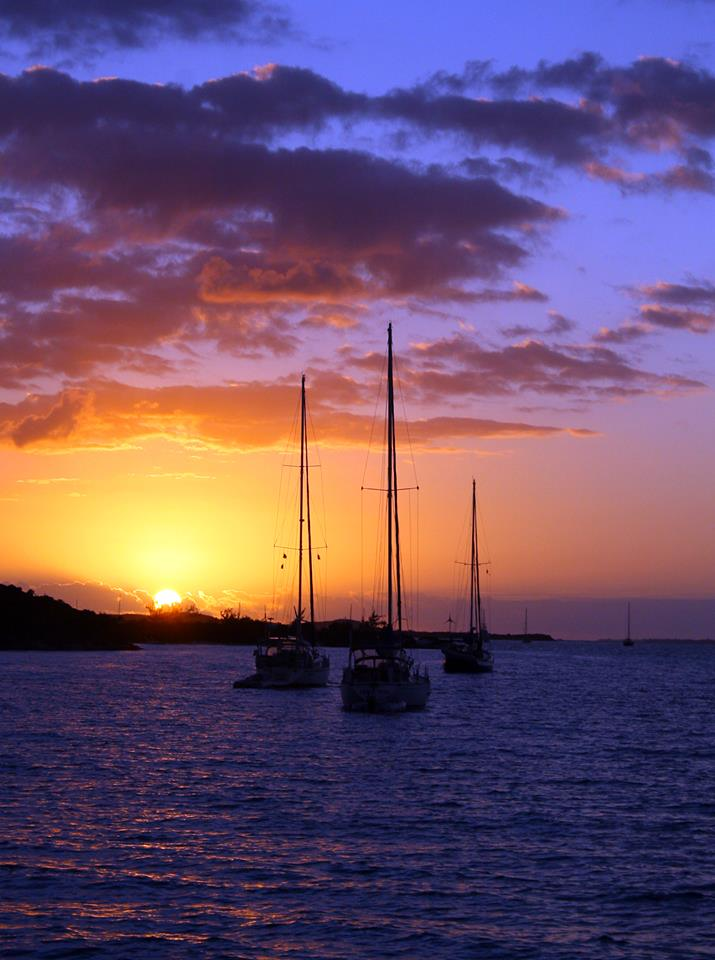 sunset off bow exumas